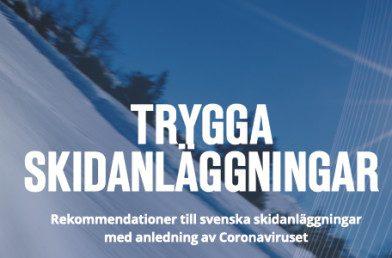 Svenske skidestinationer forbereder en tryg vintersæson